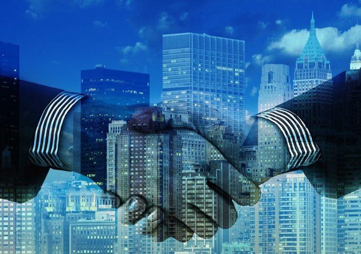 overseas trade handshake