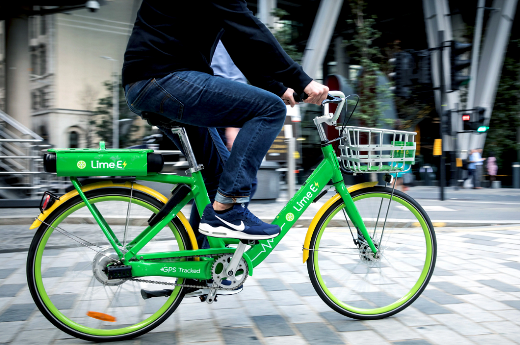 electric vehicle insurance Lime bike user