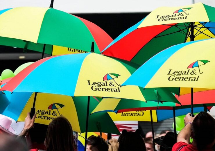 E6HK86 Colourful umbrellas carried by participants in the Cardiff Pride parade.